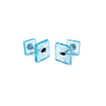 cufflinks - blue 3mm