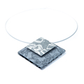 large pendant with silver - grey